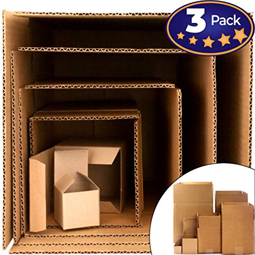 Give the Gift of Frustration: Boxes in a Box Prank. Includes 3 Sets of 6 Nesting Cartons (2-12 Inch). Funny Practical or Novelty Joke. Great Christmas Gag, Birthday Present or Stocking Stuffer for Him ()