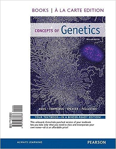 Concepts of genetics books a la carte edition 11th edition concepts of genetics books a la carte edition 11th edition 9780133865363 medicine health science books amazon fandeluxe Images