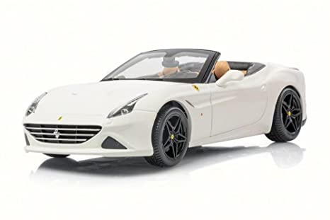 Amazon.com Ferrari California T Open Top, White , Bburago