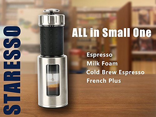 Staresso Coffee Maker with Espresso, Cappuccino and Quick Cold Brew - Black 11street Malaysia ...