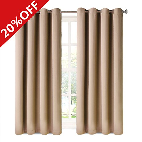 MEROUS Window Treatment Thermal Insulated Solid Grommet