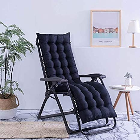 120Cm Black not Outdoor Sun Lounger Garden Furniture Patio Desk Recliner Chairs For Back Pain Relaxer Pad Cushion For Elderly 48