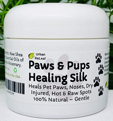 - Urban ReLeaf Paws & Pups Healing Silk! Heal, Protect Pets, Dry, Injured, Hot & Raw Spots. Gentle 100% Natural Dog Salve! Vitamin Shea. Earth's finest ingredients. Softens skin & fur! Walk Rescue