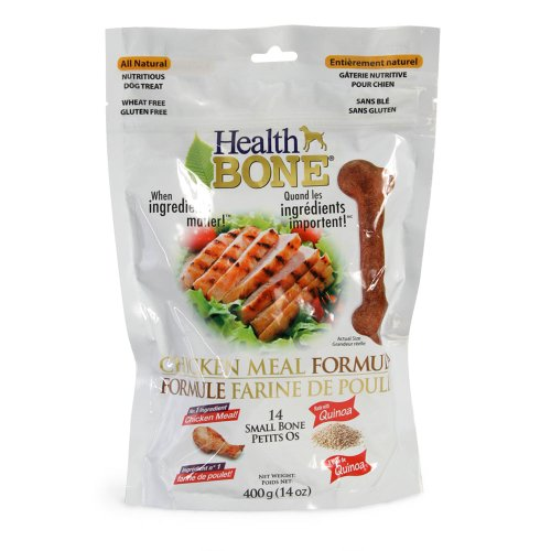 Omega Paw Health Bone Small Chicken Dog Treats, 14-Ounce