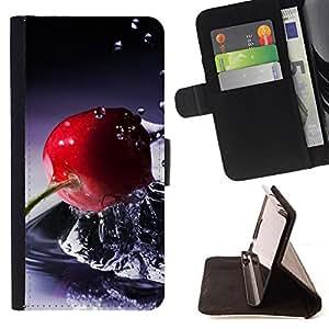 For Samsung Galaxy S4 IV I9500 - Fruit Basket /Funda de piel cubierta de la carpeta Foilo con cierre magn???¡¯????tico/ - Super Marley Shop -