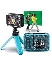 VTech Kidizoom 80-531885 Video Studio HD, multifunctionele HD-camera, speciale effecten, trucages - Franse versie, Blauw, 9.14 x 3.74 x 6.13 cm