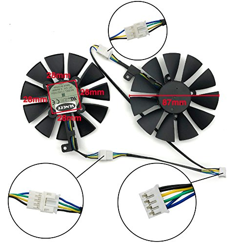 Z N Z A Pair 87MM Cooler Fan For ASUS GTX1060 1070 Ti RX 470 570 580  Graphics Card T129215SU Cooling Fans