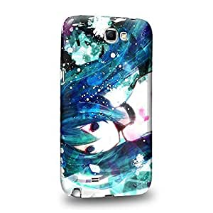 Case88 Premium Designs Vocaloid Miki Hatsune Miku 0971 Protective Snap-on Hard Back Case Cover for Samsung Galaxy Note 2