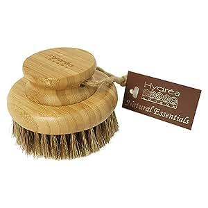 Hydrea London Bamboo Round Body Brush With Mane & Cactus Bristle WBB10H-HD