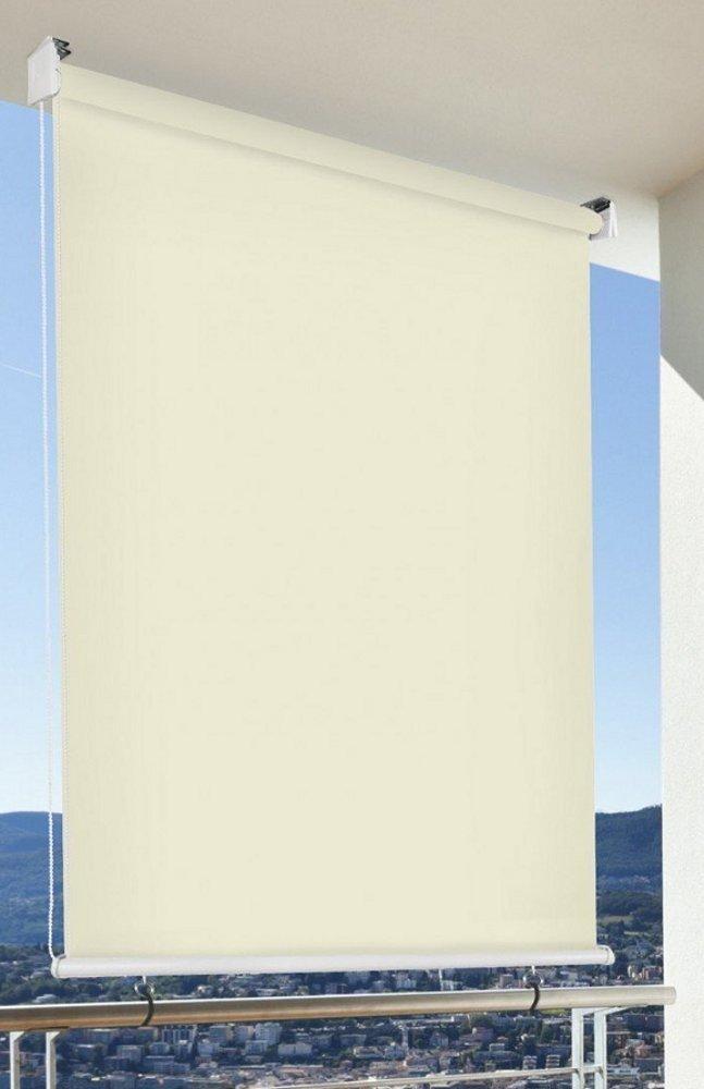 günstig kaufen echte Schuhe letzte auswahl von 2019 Sonnen-schutz Außen-rollo Balkon-rollo 180 x 230 cm beige creme  Balkon-sicht-schutz 1 Stück