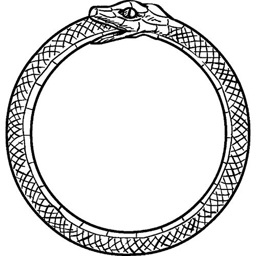 Azeeda A7 'Snake Eating Tail (Ouroboros)' Unmounted Rubber Stamp (RS00000221)