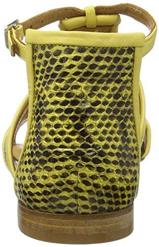 Alberto Fermani Neda - Tira de tobillo Mujer Gelb (lemon-lemon-Nero)