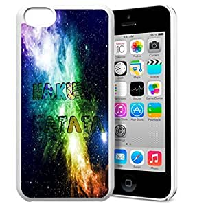 MEIMEIAfrica Ancient Proverb HAKUNA MATATA Color Accelerating Universe Star Design Pattern HD Durable Hard Plastic Case Cover for ipod touch 4LINMM58281