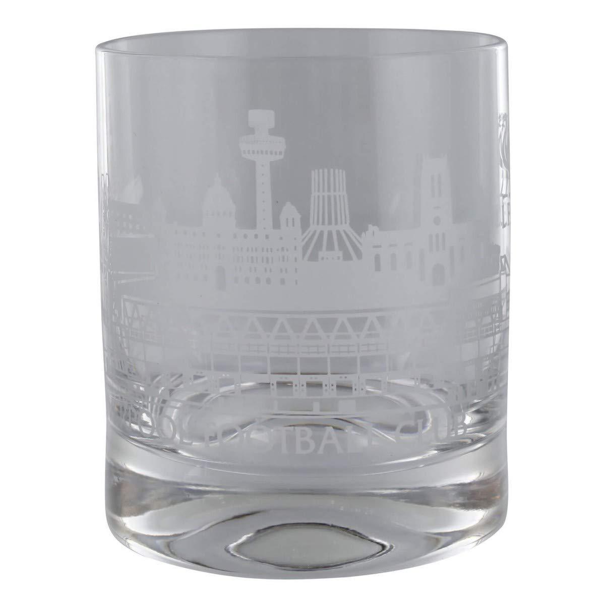 FC Liverpool Single Skyline Whiskey Glas