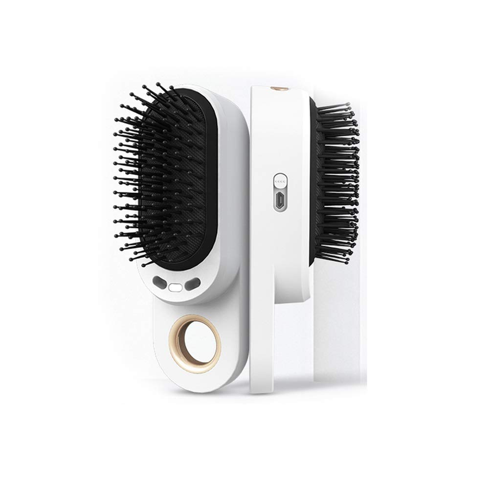 WUZHONGDIAN Comb, Vibrating Massage Comb Anti-static Negative Ion Electric Comb, White. by WUZHONGDIAN
