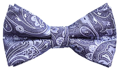 OCIA Mens Retro Floral Pattern Handmade Bow Tie - ND034 (Mens Dress Up Outfits)
