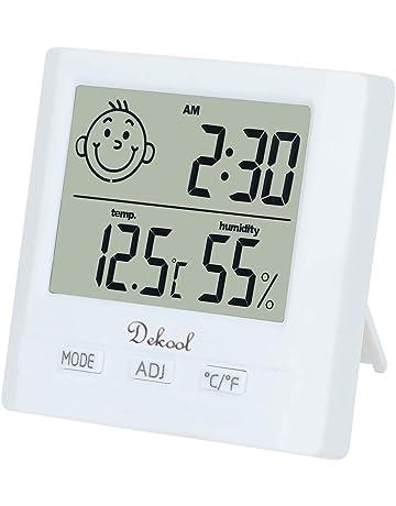 b654d8eda Dekool Igrometro Termometro Digitale, Monitor Umidità da Interno,  Temperatura Digitale, Stazione Meteo con
