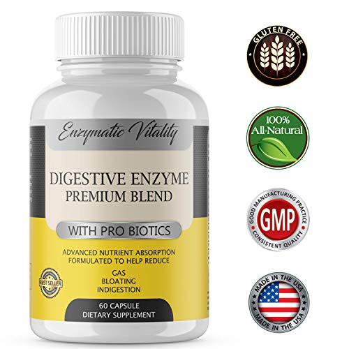 Digestive Supplements - Probiotic Digestive Enzymes - Stop Bloating & Constipation with Protease Enzyme, Bromelain, Papain to Reduce Acid Reflux, Advanced Nutrient Absorption