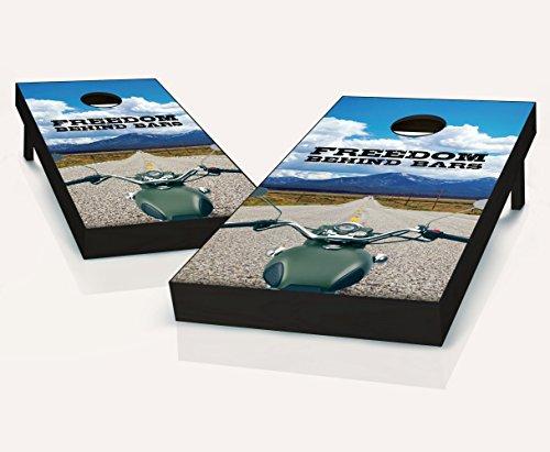 Tailgating Pros Freedom Behind Bars Cornhole Boards With Set of 8 Cornhole Bags by Tailgating Pros