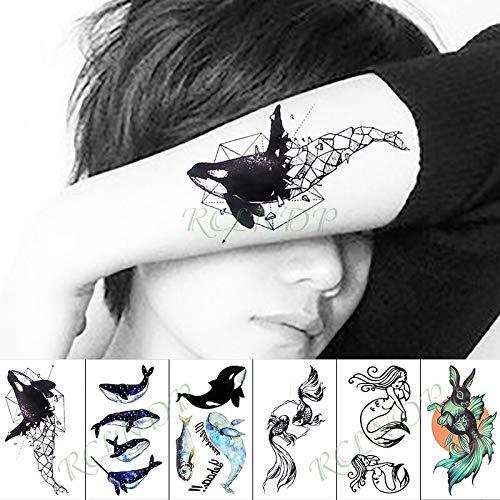 tzxdbh Etiqueta Engomada del Tatuaje Temporal Impermeable Animal ...