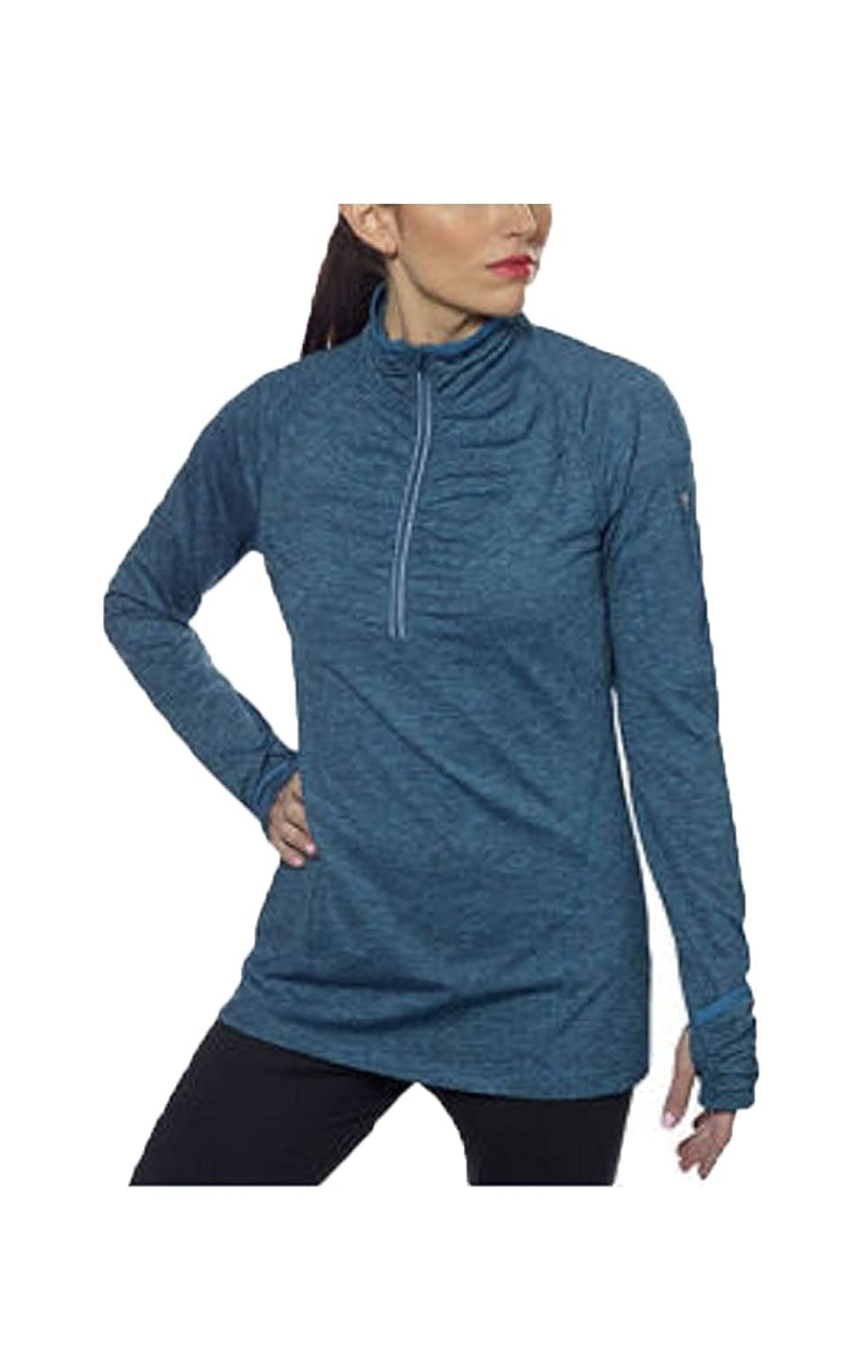 J Ann Kirkland Signature Woman's 1/4 Zip Pullover(Size : Medium,Color : Teal)