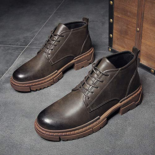 LOVDRAM Männer Schuhe Mid Stiefel Männer Martin Stiefel Herrenmode Zu Helfen Herrenschuhe Werkzeug Stiefel Mode Herbst Und Winter Herrenstiefel
