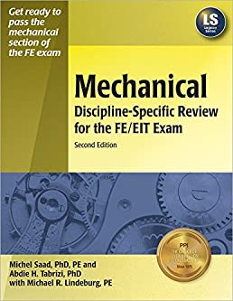 mechanical discipline specific review for the fe eit exam michel rh amazon ca Fe Mechanical Exam Oregon Practice Exam