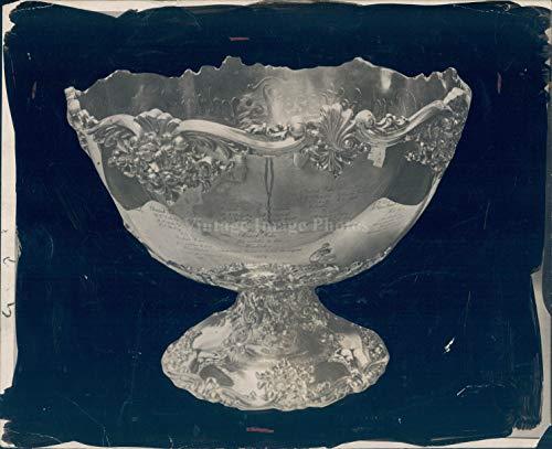 1913 Photo Tennis Championship Trophy Davis Cup Historic Vintage Shiny Rare 8x10