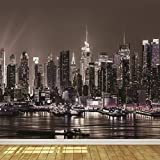 New York City Skyline at Night 8 Wallpaper Mural