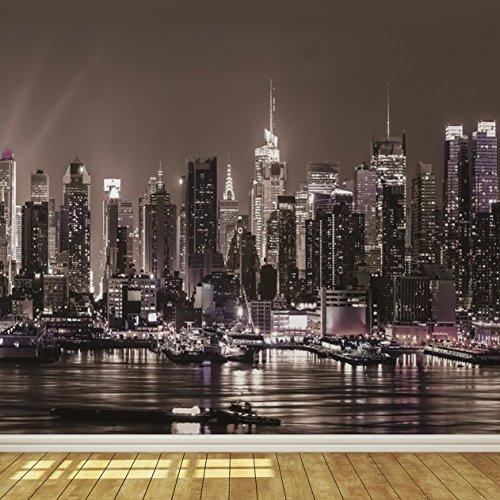 New York City Skyline at Night 8 Wallpaper Mural