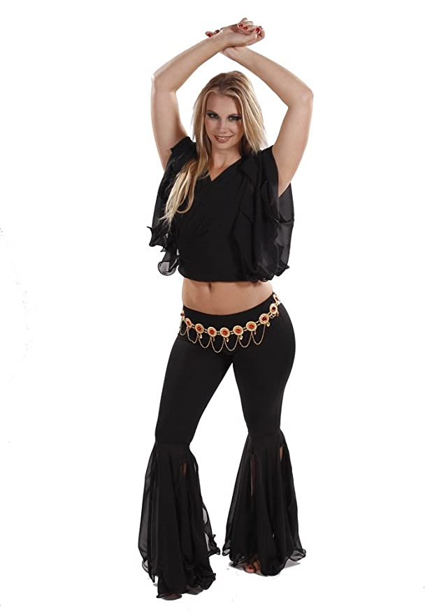 Miss Belly Dance Pantalones de Danza del Vientre, Top y ...