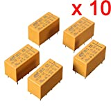 DAOKI 10 Pcs DC 12V SHG Coil DPDT 8 Pin 2NO 2NC Mini Power Relays PCB Type HK19F