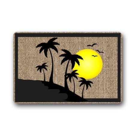 TSlook Fashions Doormat Fashion Welcome Palm Tree Indoor/Outdoor/Front Welcome Door Mat(23.6
