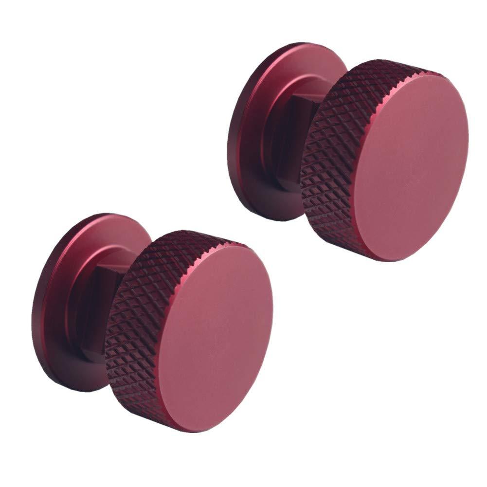 JGR 1 Pair Welding Hood (Pipeliner) Fasteners Aluminum (Red) by JGR