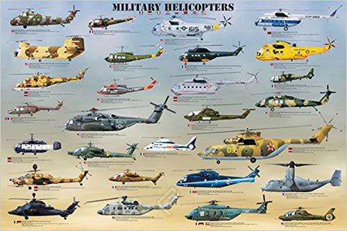 EuroGraphics Military Helicopter Poster 24 x 36