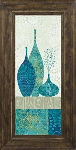 8x20 Blue Spice Stripe Panel II by Wild Apple Portfolio: Ponderosa Saddle 11950