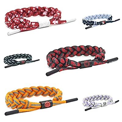WerNerk Naruto Cosplay Bracelet, Anime Naruto Shippuden Braided Wristband with Symbol for Kids Teens Adults and Anime Fans( Uchiha Sasuke): Toys & Games