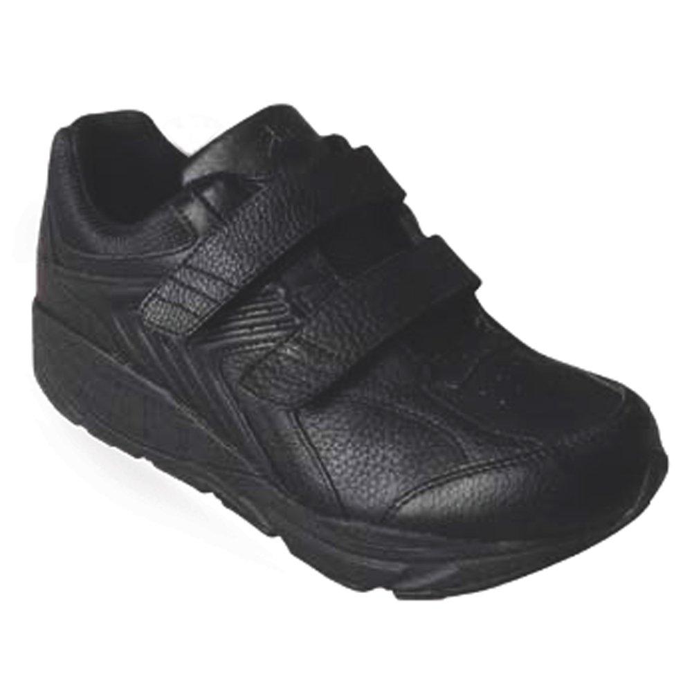 Xelero Matrix Men's Comfort Therapeutic Extra Depth Sneaker Shoe Leather Velcro B00SW13TKW 12.0 X-Wide (4E) Black Velcro US Men|Black
