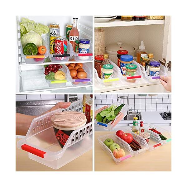 51aSz%2B3ycwL Kühlschrank Organizer, JRing Kühlschrankbox 6 Stück Kühlschrank Container Aufbewahrungsbox Schubladen Pantry Lagerung…
