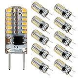 G8 LED Bulb Mini T4 Base Bi-pin 20W Halogen Xenon Replacement Light Bulb Dimmable 2.5Watt 3000K Warm White 120V Under Counter Lights Puck Lights Kitchen Light (10 Pack)