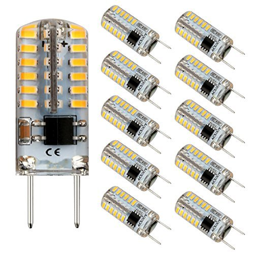 (G8 LED Bulb Mini T4 Base Bi-pin 20W Halogen Xenon Replacement Light Bulb Dimmable 2.5Watt 3000K Warm White 120V Under Counter Lights Puck Lights Kitchen Light (10 Pack))