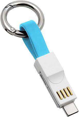 Lightning Schlüsselanhänger Ladekabel 13cm Kurze Schnellladekabel Lightning Micro Usb Typ C 3 In 1 Multi Datenkabel Magnetisch Tragbar Schlüsselanhänger Aufladekabel Für Alle Android Ios Typ C Geräte Auto