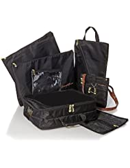 Black Samantha Brown 6-piece Travel Survival Kit