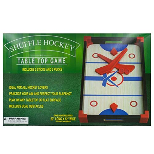 The Wholesale Shop Pack of 2 Red and Blue 4-Piece Slap Shot Hockey Tabletop Games 20'' by The Wholesale Shop