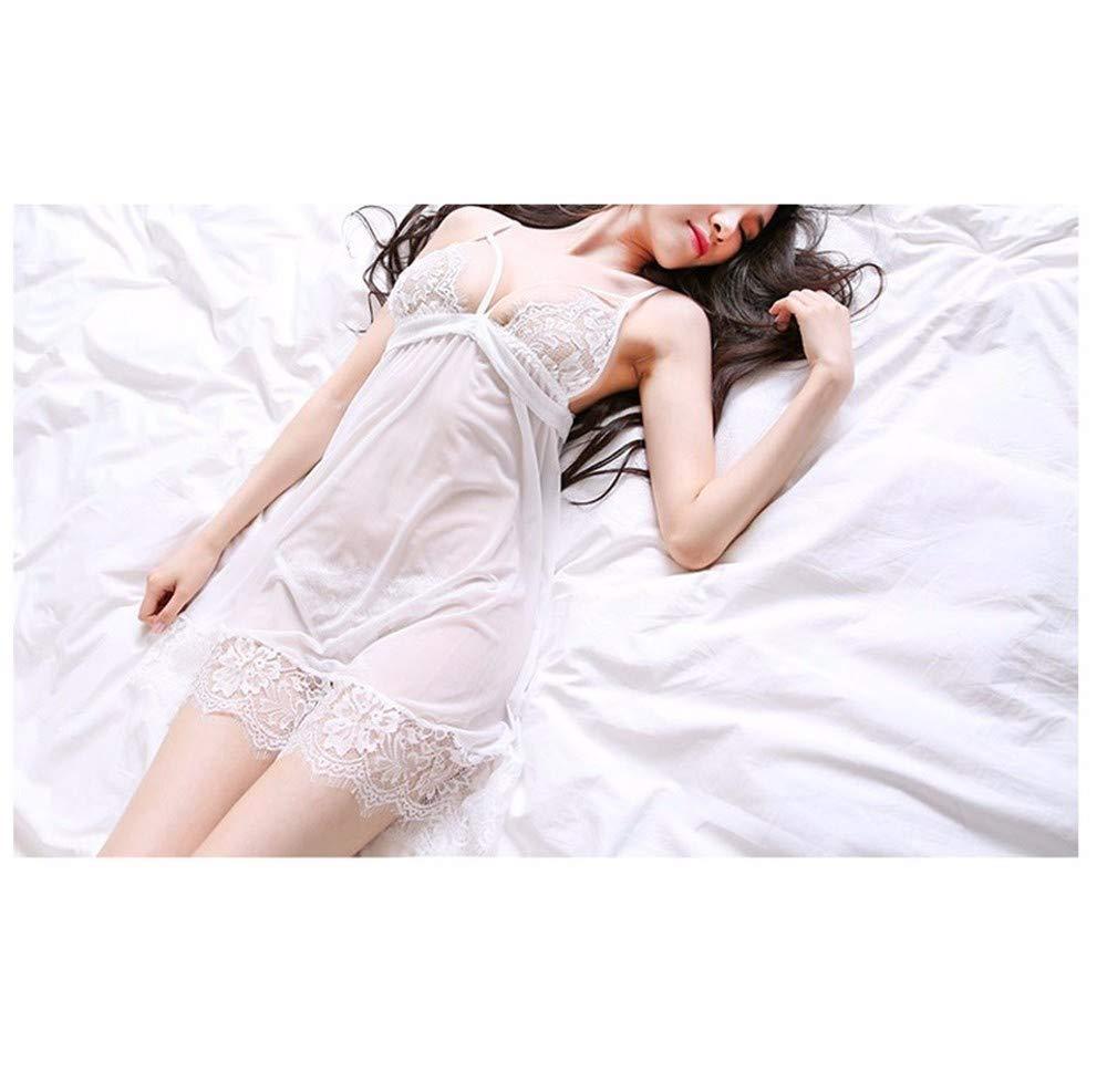 Diversión sexy Sexy Pijamas De Malla Encaje Mujeres/Transparente Malla De Seducción Correa-En Lencería/Bragas, Rosa, F 50b4f4