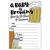 Baby Is Brewing Baby Shower Invitations (20 Count) with Envelopes