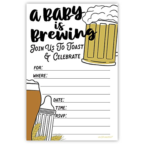 - Baby Is Brewing Baby Shower Invitations (20 Count) with Envelopes