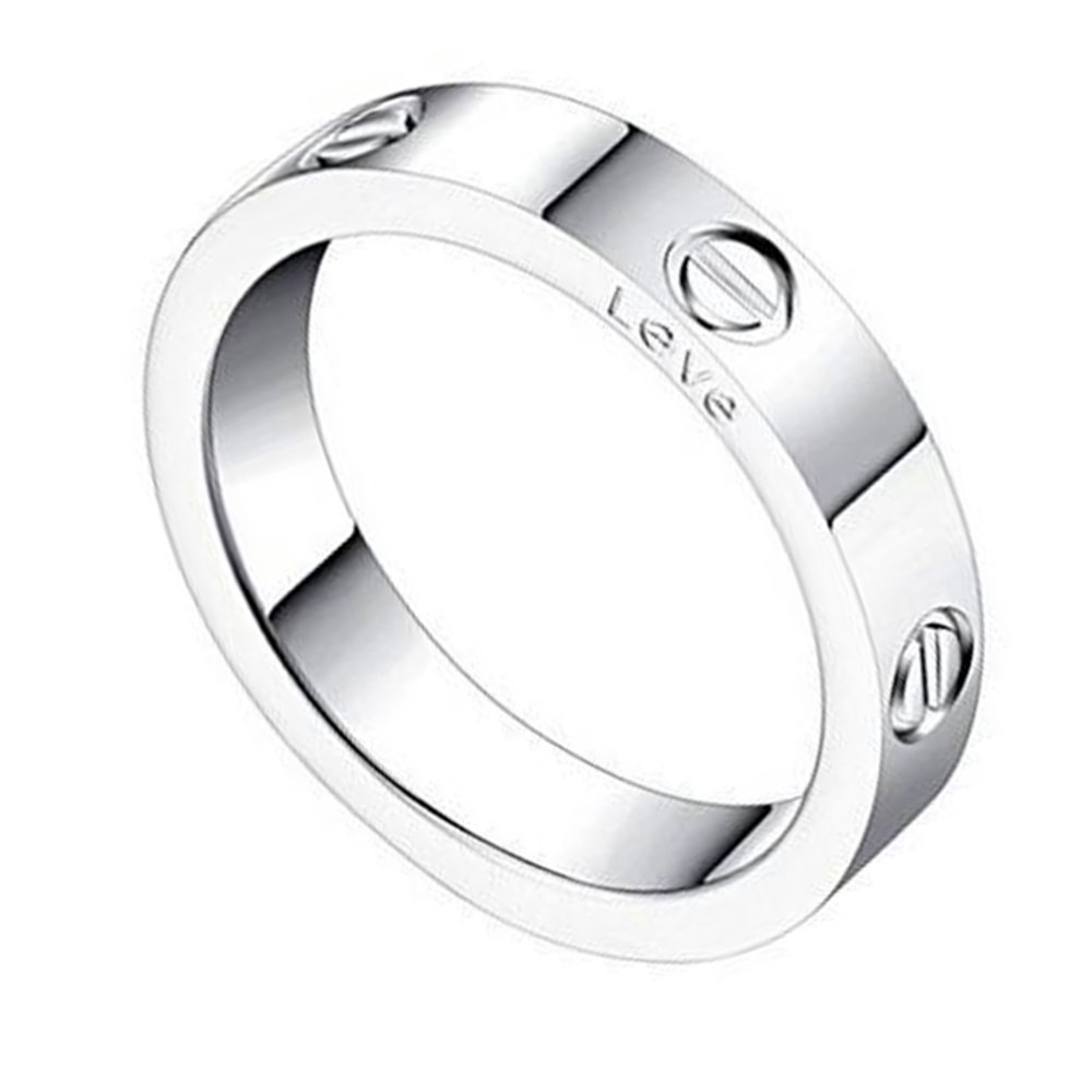 K.Klemm Women's 4mm Fashion Classics Titanium Steel Silver Ring - Eternal Lovers Ring (Silver, 7) by K.Klemm
