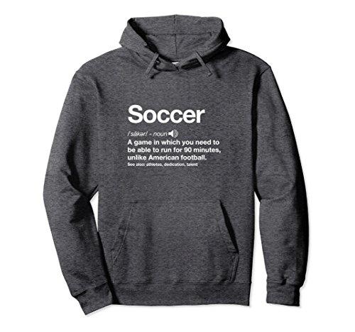 Soccer Sweatshirt - Unisex Soccer Definition Funny Gag Gift Hoodie Small Dark Heather
