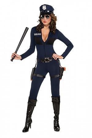 shoperama Mujer Disfraz - Traffic Cop Catsuit - Incluye ...